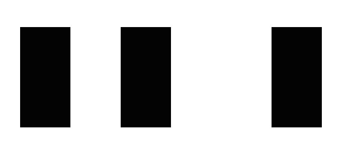 図1.2: 三つの短径が描かれている