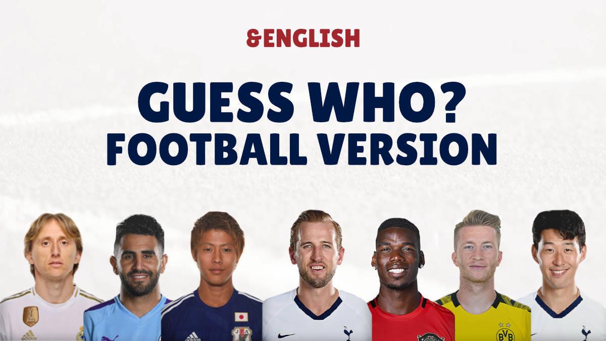 英語勉強ゲーム 「Guess Who?」サッカーバージョン