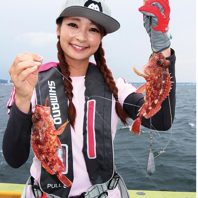浅場で大爆釣!ドジョウエサで狙うカサゴ!東京湾 久里浜沖など