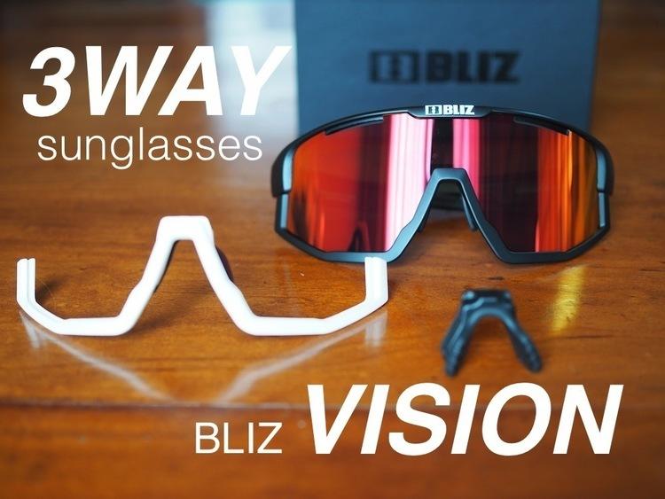 3WAYのスタイルが選べる本格派アクティブサングラス【BLIZ】VISION