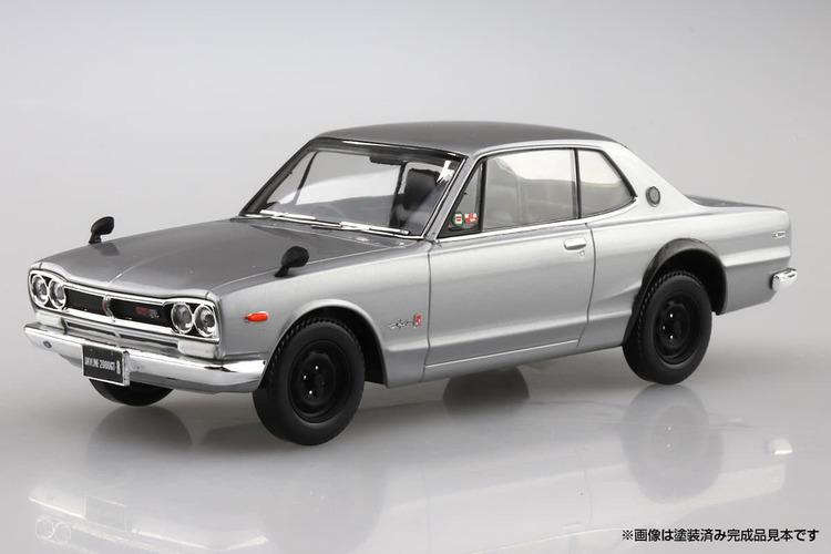 「ハコスカGT-R」を手軽にコレクション入りできる! 塗装も接着剤も不要のプラモデルがアオシマから登場