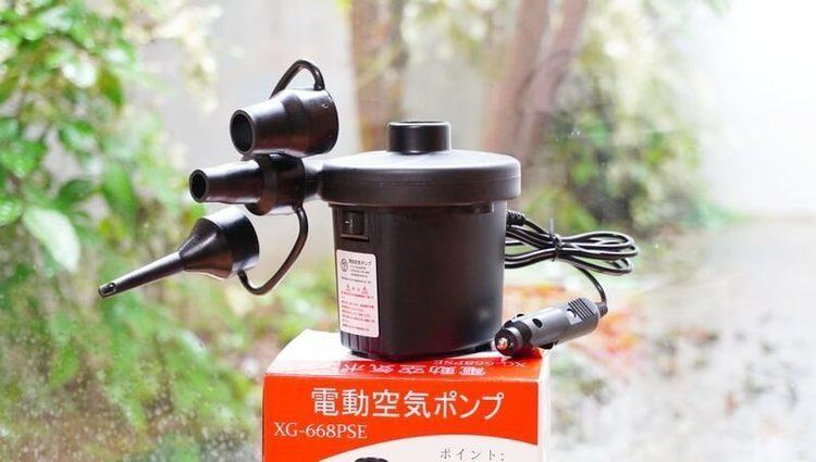 電動エアーポンプなら最短6秒でエアーマットが膨らむ & DCシガーソケット給電が便利