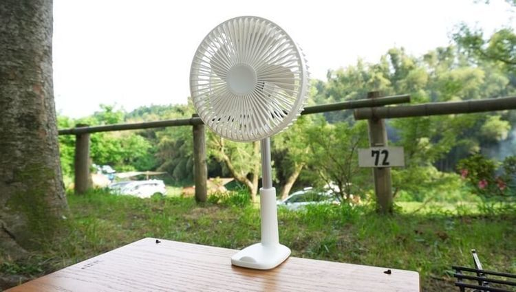 リスカイ扇風機の固定方法が凄い!挟む・自立・吊り・壁掛できる