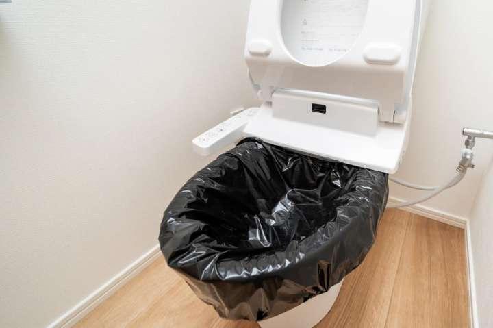水も電気もいらない非常用トイレは15年間も保存可能