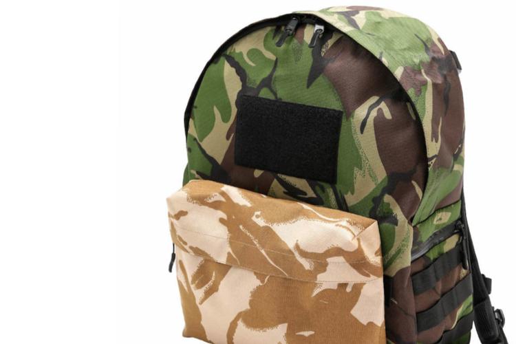 バッグジャックとナノ・ユニバースの初コラボ。2種の迷彩を大胆MIXしたバックパックが到着。