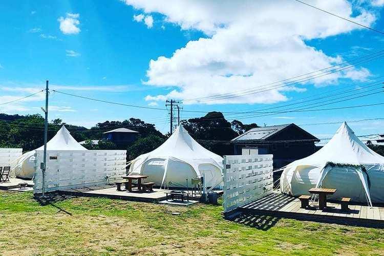 房総半島の南端・館山で大自然を堪能し豪華装備のドームテントで過ごせるグランピング施設『LOTUS NIGHT』が予約受付中