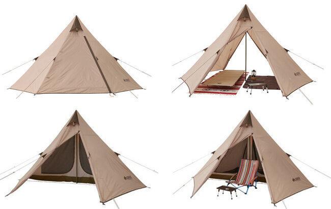 LOGOSのワンポールテント「Tradcanvas Tepee 2ルーム 300」は寝室とリビングスペースを確保!ソロキャンプにも最適な簡単組立て