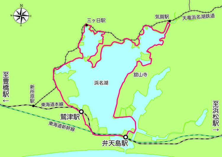 自転車で浜名湖一周「ハマイチ」のおすすめスタート駅