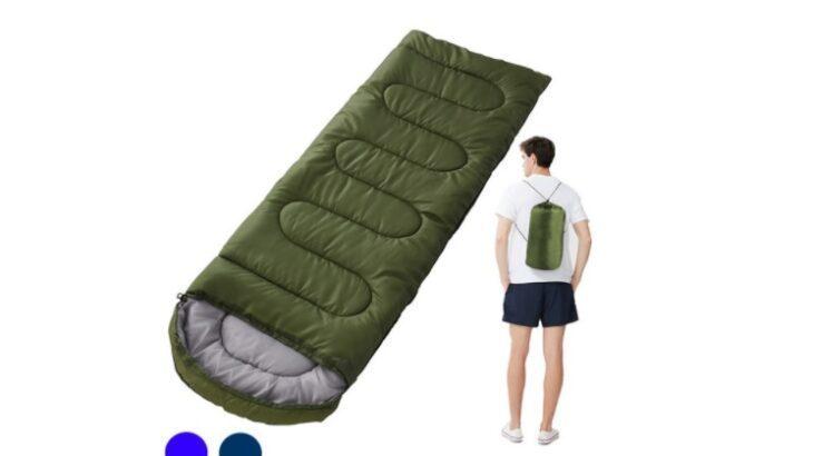 アウトドア好きにおススメな「シュラフ寝袋 枕付き寝袋」は今からの季節にピッタリ!