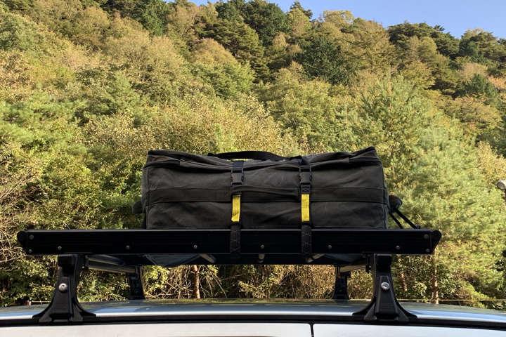 トランクから溢れ出るキャンプ道具にasobitoの「ソフトマルチコンテナ」が活躍しました