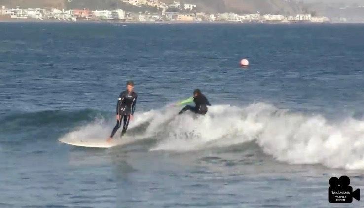 革新的サーファー井上鷹とジョエルの息子トシュ・チューダーのパーティーウェイブ動画