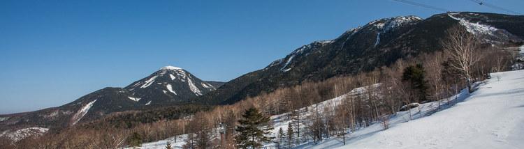 北横岳 蓼科山 縦走-500mの高低差を登り返す残雪の北八ヶ岳