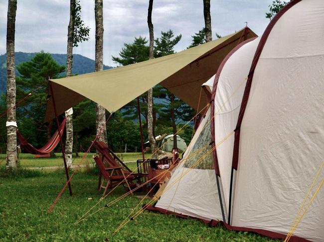 新幕初張りキャンプ@吹上高原キャンプ場