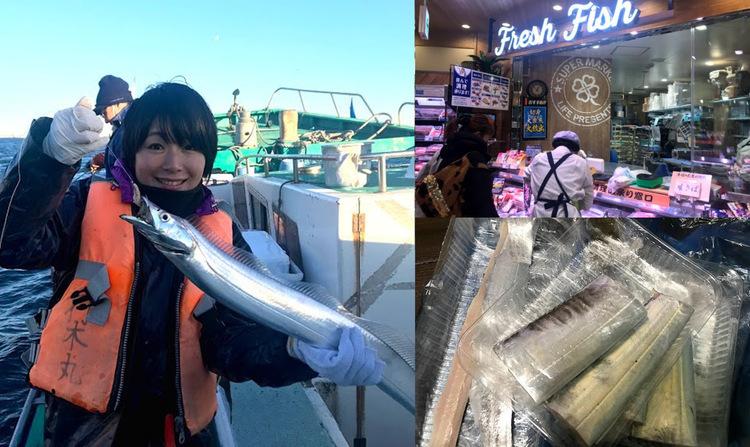 釣った魚をスーパーに持ち込んで捌いてもらう!たまには自宅で料理も楽しい♡