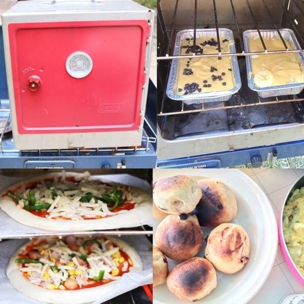 コールマン【キャンピングオープンスモーカー】でピザを焼こう!パンや焼き菓子やオーブン料理も!燻製もOK!