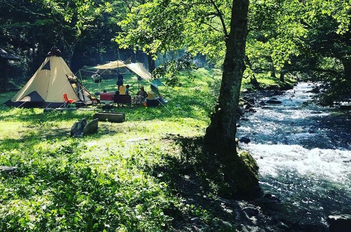 涼しい音と風が吹く、綺麗な川のあるキャンプ場【第2弾】