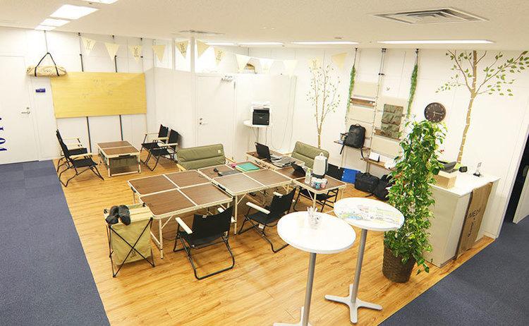 梅田のど真ん中にアウトドア風オフィスを作ってみた。