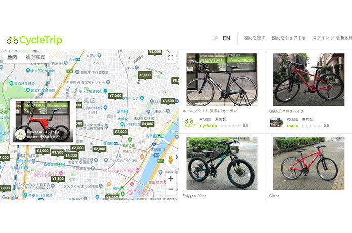 世界を旅するための個人間バイクシェア「CycleTrip(サイクルトリップ)」が開始!
