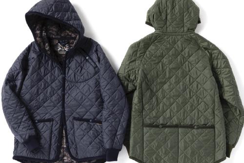 ラベンハムのキルトジャケットがサイクル仕様に! ナリフリ別注のスポーティな一着。