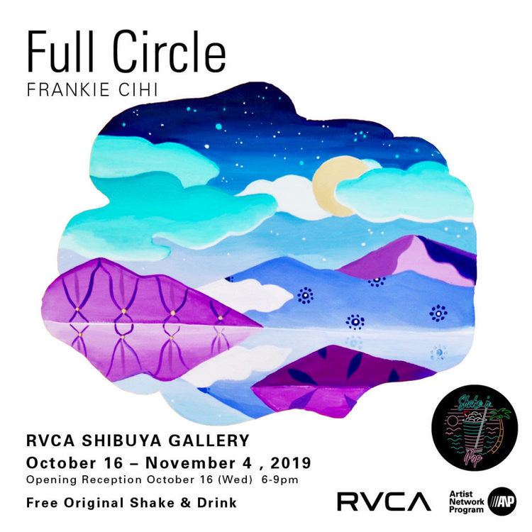 "Frankie Cihi(フランキー・スィーヒ)によるArt Exhibition ""Full Circle""が  RVCA SHBUYA GALLERYにて10月16日(水)よりスタート。"