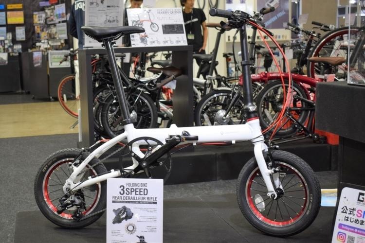 超小経折りたたみ自転車のルノー・ウルトラライト7は3段変速に進化か?【サイクルモード2019】