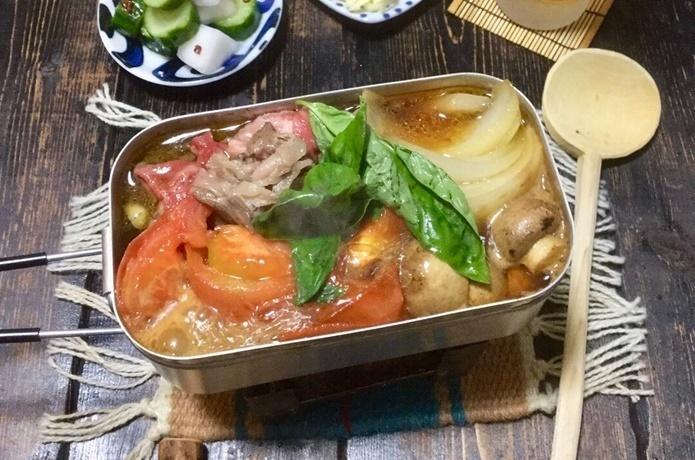 目指せメスティンマニア!@mestinmaniaの絶品レシピ#53【トマトすき焼き】
