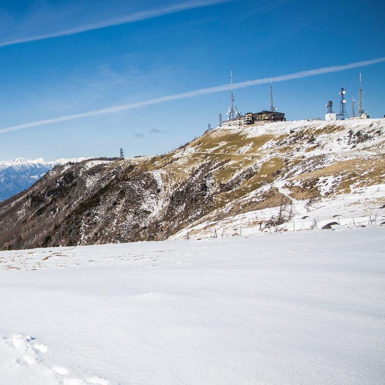2月の美ヶ原 雪の少ない冬の美ヶ原