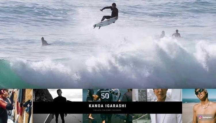 五十嵐カノアの新Youtubeチャンネルより躍動感あふれる第1弾映像『FREEDOM 』が公開