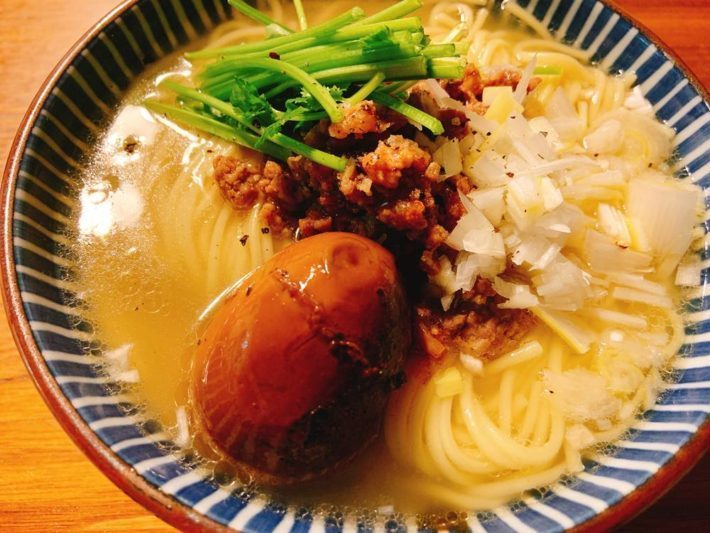 なんなら、マゴチのアラは「台湾風汁ソバ」にアレンジすればいい。