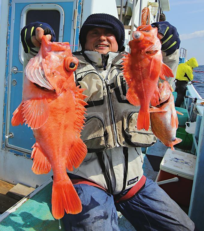 高級魚連発!メバル&メヌケ&マダラ!茨城・波崎沖の中深場五目
