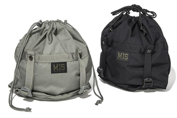 人気の巾着バッグに変わり種! ミリタリー的ディテールが光るMISの機能派。