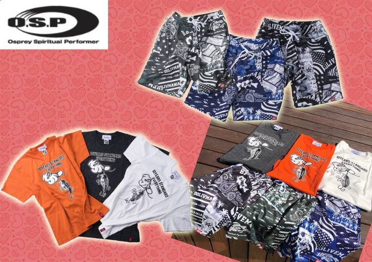 【O.S.Pとbassmaniaがコラボ】メチャお洒落で快適な着心地!O.S.Pの新作「ショートスリーブTシャツ」と「ハーフパンツ」をご紹介!