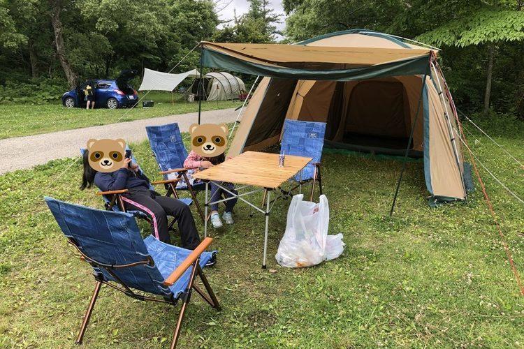 キャンプの初心者が始める、40代からの宿営生活 – 初キャンプは福島県耶麻郡北塩原村「裏磐梯休暇村キャンプ場」感想レビュー