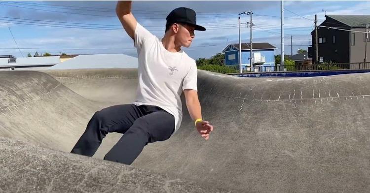 【SURF×SKATE】大怪我寸前!? US OPENチャンプ大原洋人と都筑百斗がコンクリートウェイブでスケートボードにチャレンジ!!