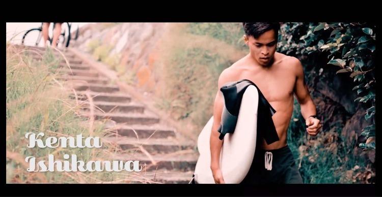 """【オルタナティブ】アライアからパフォーマンスボードまで乗りこなすプロサーファー石川拳大が話題のstpnk surfboardsのツインフィッシュ""""TWIN KEEL FISH""""モデルの4'10で鎌倉の小波をクルーズ"""