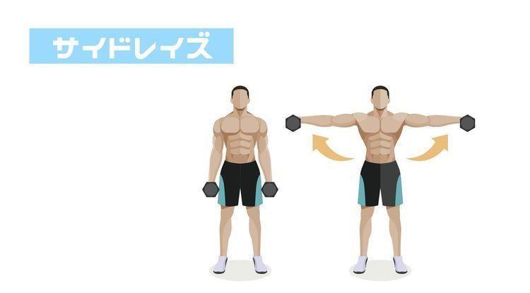 """肩の筋肉""""三角筋""""を鍛える筋トレ「サイドレイズ」、押さえるべきポイントはココ"""
