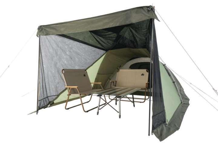6人でもゆったり過ごせるテントでファミリーキャンプを満喫しよう