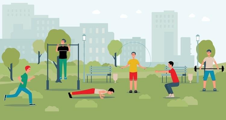 公園の遊具で筋トレ。鉄棒やベンチを使ったトレーニングメニュー6種