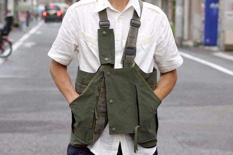 CCPの新作は、バッグに変身する斬新ベスト。ミリタリーテイストな表情も魅力的!