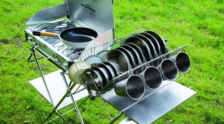 【2020年新製品】キャンプにて食器・調理器具の整理整頓に大活躍!ディッシュラックがユニフレームから新発売