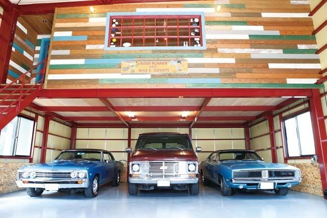 ビンテージアメリカン3台体制!巨大ガレージでエンジョイするホビーライフ