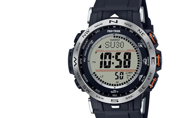 小型のプロトレック「クライマーライン」に、視認・操作性をアップしたデジタル時計が登場。