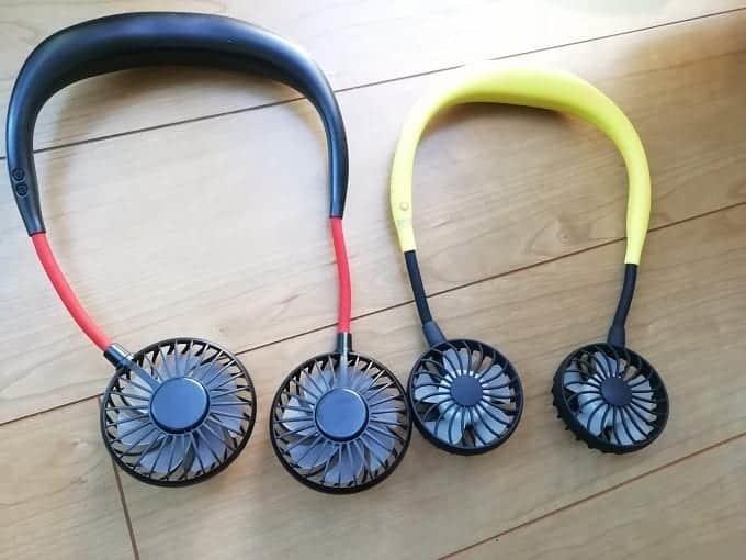 首かけ式扇風機ってどうなの?2メーカーの商品を実際に試してみました!