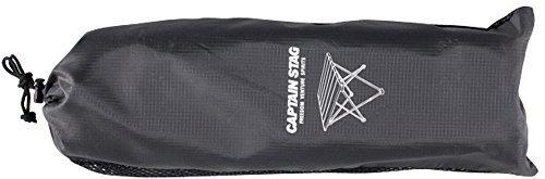CAPTAIN STAG(キャプテンスタッグ)/トレッカー ジュラルミンロールテーブル(ブラック)