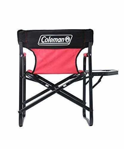 Coleman(コールマン)/サイドテーブル付デッキチェアST(レッド)