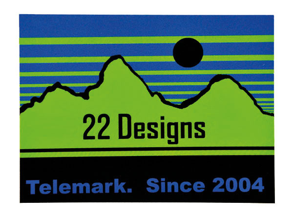 22 Designs Teton Eclipse Sticker