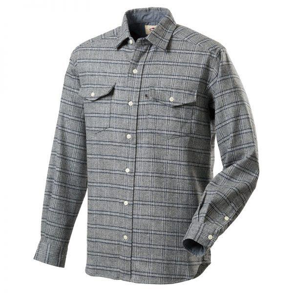ウールストレッチシャツ