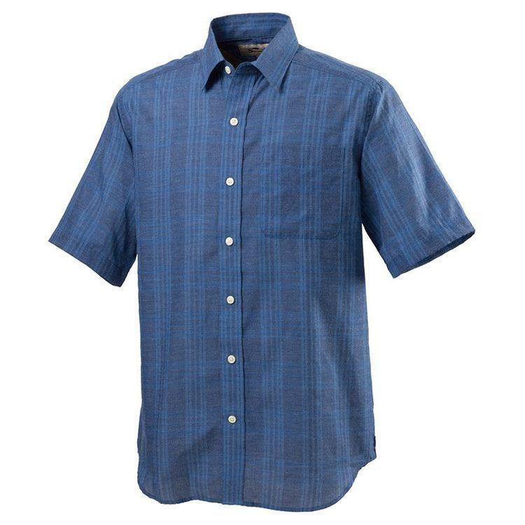 ブルーチェックシャツ