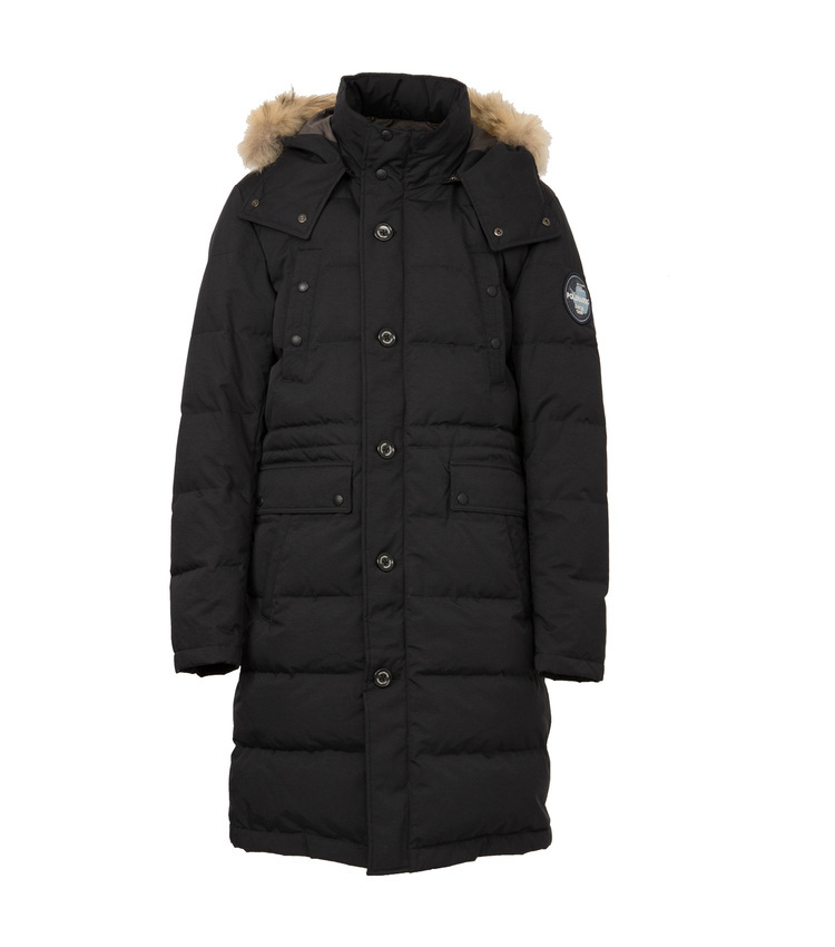 MAKALU QUILTING LONG COAT blk
