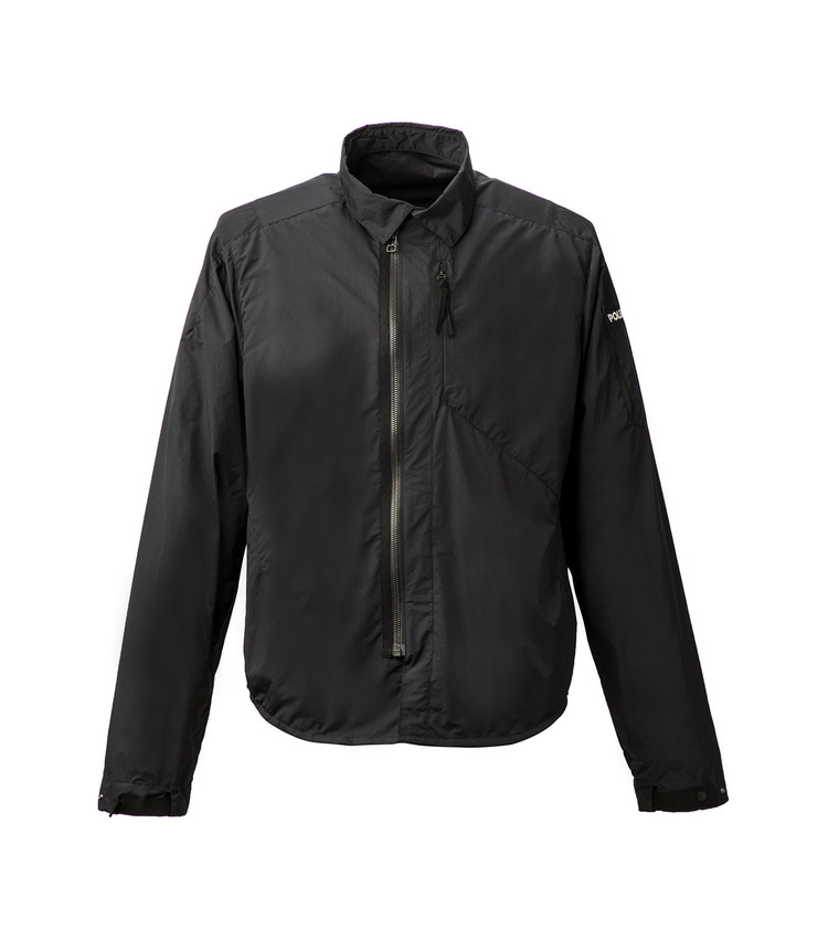 Zip front shirt Jacket blk